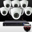 16CH IMAX NVR & Ninja 4 Megapixel IP Eyeball Dome Camera 8 Cam Kit (White)