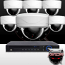 Ninja 4 Megapixel IP Dome Camera 8 CH Kit (White)