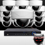 16CH IMAX NVR & Ninja 4 Megapixel IP Mini Dome Camera 16 Cam Kit (White)