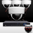 Ninja 4 Megapixel IP Dome Camera 4CH Kit (White)