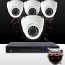 Ninja 4 Megapixel IP Eyeball Dome Camera 4CH Kit (White)