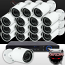 16CH IMAX NVR & Ninja 4 Megapixel IP Mini Bullet Camera 16 Cam Kit (White)