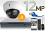 16 CH NVR with 8 4K 12MP Dome Cameras 4K Kit for Business Professional Grade FREE 1TB Hard Drive