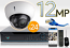 24 CH NVR with 24 4K 12MP Dome Cameras 4K Kit for Business Professional Grade FREE 1TB Hard Drive