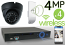 Wireless 4MP IP Eyeball Dome (4) Camera Kit (Ninja)