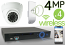 Wireless 4MP IP Eyeball Dome (4) Camera Kit (White)