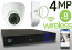 Wireless 4MP IP Eyeball Dome (8) Camera Kit (White)