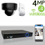 Wireless 4MP IP Dome (4) Camera Kit (Ninja)