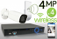 Wireless 4MP IP 2.8-13.5mm Motorized Bullet (4) Camera Kit (White)