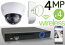 Wireless 4MP IP 2.7mm ~ 12mm Motorized Dome (4) Camera Kit (IP41)