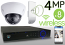 Wireless 4MP IP 2.7mm ~ 12mm Motorized Dome (8) Camera Kit (IP41)