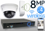 Wireless 8MP IP Mini Dome (4) Camera Kit