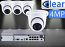 8 CH NVR with (4) IPX2 4 Megapixel, 3.6mm Lens, 30m IR, H.265, CVBS (BNC) Optional, Network IP Dome Camera