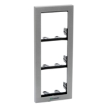 3311/3G Module-Holder Frame Complete with Cornice for 3 Modules - Grey Color