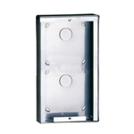 3316/2 Comelit Powercom 2 Module Stainless Steel Surface-Mounted Housing