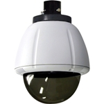 35542 Outdoor vandal-resistant housing with clear dome for the AXIS 213 AXIS 214 AXIS 215 and AXIS 23xD+ Network Cameras (Heater and Blower) Pendant Mount, Smoked Dome