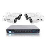 8 CH NVR & 4 HD Megapixel IR Bullet (3MP and 4MP Options) Kit for Business Professional Grade