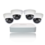 4 CH NVR & 4 x 4 Megapixel HD IR Mini Dome Kit With 1TB Hard Drive Pre-installed for Business Professional Grade