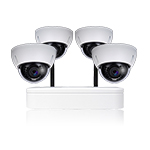 4 Ch WIFI NVR & 4 HD Megapixel Vandal Proof Dome Camera Kit for Business Professional Grade