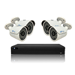 4 CH DVR with 4 2MP 1080P HD-CVI IR Bullet w/ 3.6mm Fixed Lens, 135ft IR & DC12V 4CH DVR HD Kit for Business Professional Grade FREE 1TB Hard Drive