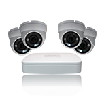 4 Ch NVR & 4x 4 Megapixel IR IP Dome 2.8-12 Motorized lens Kit for Business Professional Grade