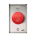 991E-PTD-32D RCI 991 Red Pneumatic TD Red Push To Exit MN x 32D