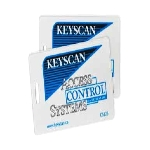 CS125-36 Keyscan 125 KHZ Compatible Clamshell Prox Card-36 Bit with Slot Punch