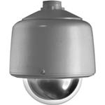 """DF5-PG-E1 5"""" Outdoor Gray Pendant Fixed Mount Dome (Clear)"""
