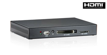 PA200 Signage Player (Black/US) (up to 720p video resolution, AV, VGA & HDMI video output)