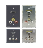 WAV5 Passive Wall Plate − 15−pin HD, 3.5mm Stereo Audio & 3 RCA