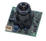 "ACE-SM300C KT&C 380 TV Lines, 1/3"" CCD, 0.5Lux/F1.2 w/ standard lens, 32X32 mm, Mirror Mode"