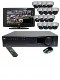 16 HD 1080p IR Dome HD-SDI DVR Kit for Business Commercial Grade