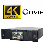 "128 Channel Super 4K NVR w/ 16 Hotswap Bays / RAID / 7"" Front LCD Display / Redundant Power Supply"