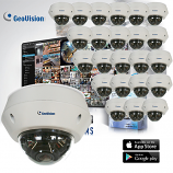 GeoVision EVD2100 / 3100 Target Series 24 Dome Camera Kit with Free VMS 32CH Software