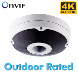 GV-FER12203 12MP H.264 Low Lux Fisheye Rugged IP Camera