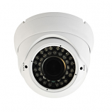 720P HD-AVS IR Vandal White Dome w/ 2.8-12mm Varifocal Lens, 100ft IR & DC12V