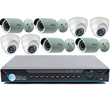 4 HD-AVS 2 MP Security Bullet Cameras and 4 Dome Cameras DVR System Kit for Business and Home Office