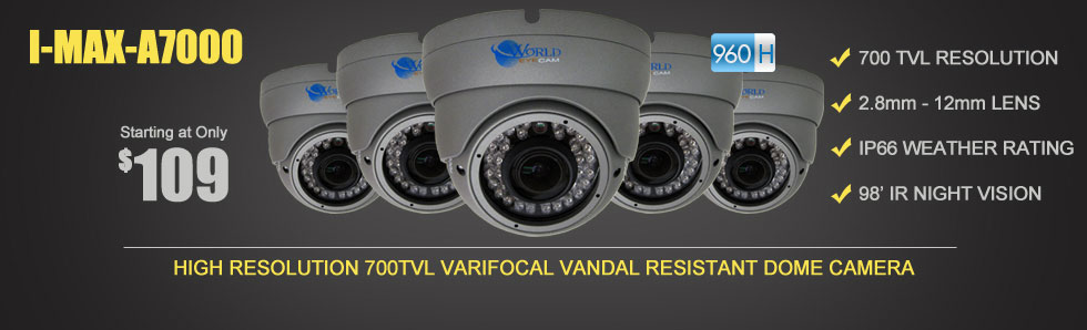 960H Outdoor Black Dome Camera