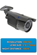 200ft NIGHT GUARDIAN: Outdoor SONY EFFIO 700 TV LINES Digital CCD Color Infrared Security Camera