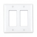 2-Gang Decor Wall Plate - White