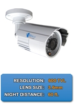Outdoor/Indoor IMAX-BL650IR-W High Resolution Color Bullet Camera 3.6mm fixed lens