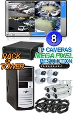 High Definition Megapixel 8 IP Camera Indoor/Outdoor Combo System