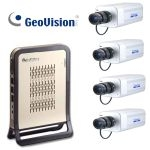 86-NRBX1-F01 Geovision NVR-Lite System + 4 pcs IP Box Camera H.264 with Fixed 4mm Lens