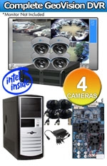 Geovision WEC-RACK-G-KIT-4CH-A700 Complete 4 Camera Surveillance Video System