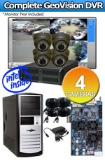 Geovision WEC-RACK-G-KIT-4CH-A1000B Complete 4 Camera Surveillance Video System