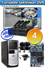 Geovision WEC-RACK-G-KIT-4CH-HRC520 Complete 4 Camera Surveillance Video System