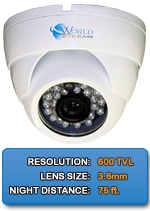 Outdoor/Indoor IMAX-A600IR-W High Resolution Color Dome Camera 3.6mm fixed lens
