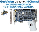 Geovision GV-1240B 16 Channel PCI Express Combo DVR Surveillance Card GV1240 (Software Included)