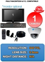 MAC and Windows Compatible H.264 1080p HD - Complete 1 Camera Video Security Camera System - IMAX-1CH-IMAX-DM540-LITE-KIT
