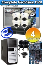 Geovision WEC-RACK-G-KIT-4CH-A4000W Complete 4 Camera Surveillance Video System
